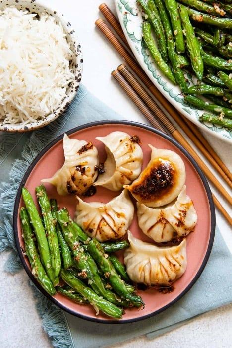 Chinese garlic green beans 1