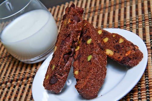 Chocolate and Pistachio Biscotti 1