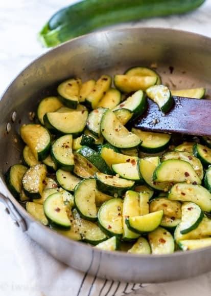 Easy sautéed zucchini