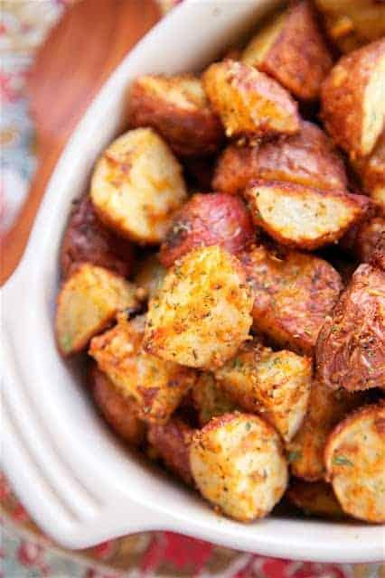 Garlic roasted parmesan red potatoes