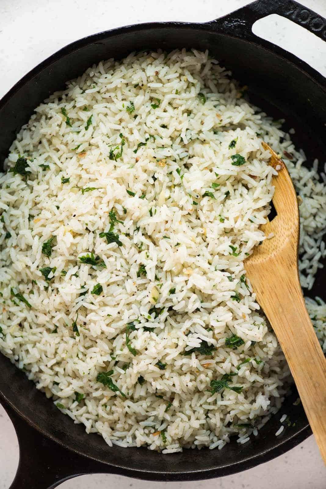 Herbed garlic butter rice