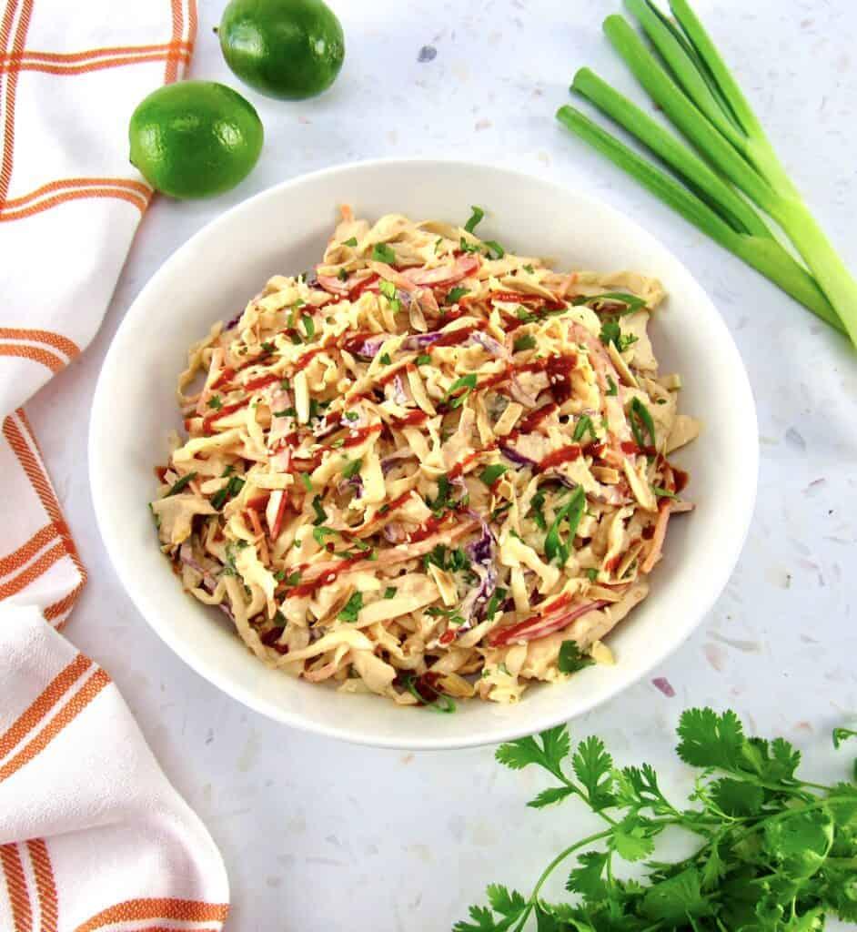 Keto spicy bang bang coleslaw