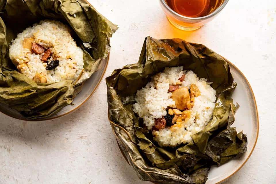 Lo Mai Gai Lotus Leaf Wraps
