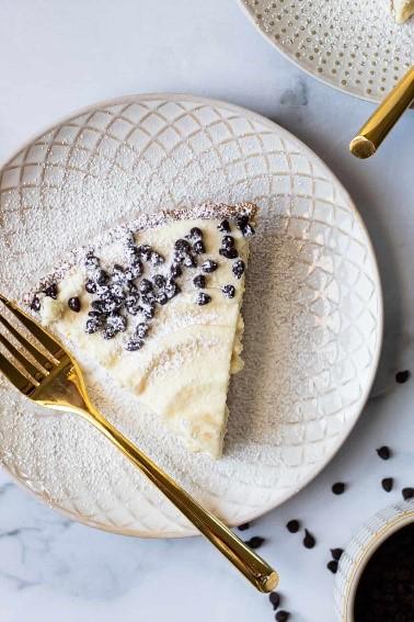 No Bake Cannoli Pie