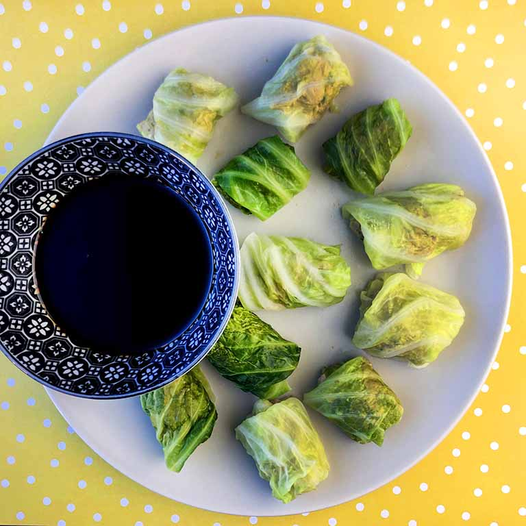 Paleo Cabbage Dimsum Rolls