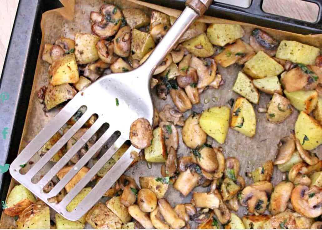 Potatoes with Mushrooms