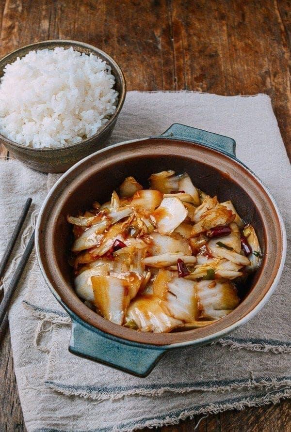 Sichuan napa cabbage stirfry