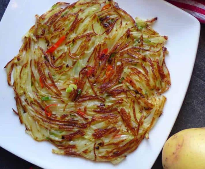Spicy Chinese potato pancake