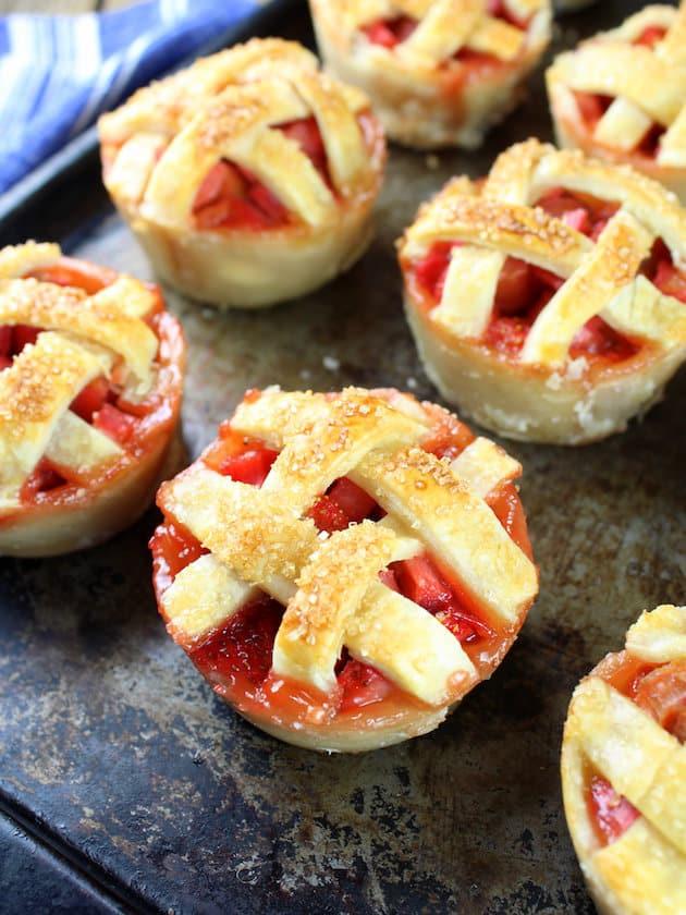 Winnies Mini Rhubarb Strawberry Pies