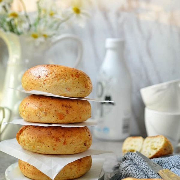 Cheesy And Savory Asiago Bagel Recipe