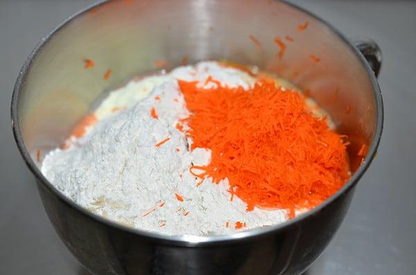 carrot bread step2