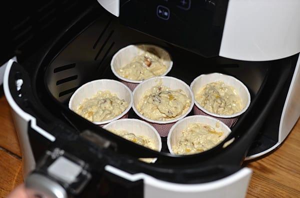 chocolate banana muffins step11