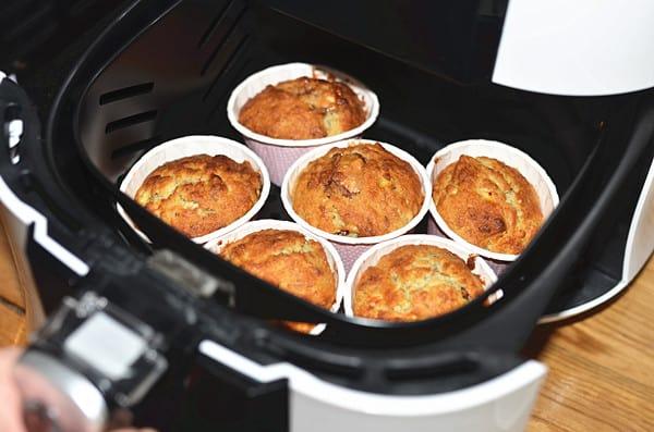 chocolate banana muffins step12