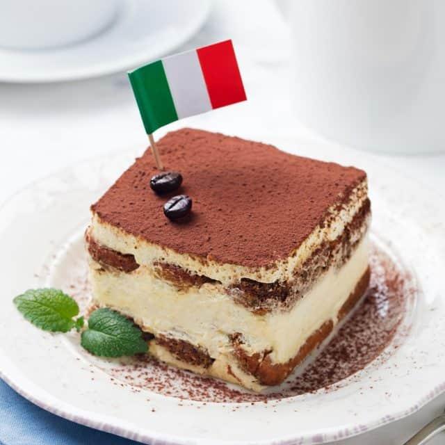 traditional Italian dessert tiramisu
