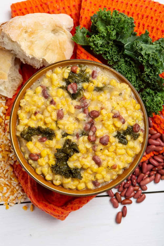 hominy corn soup